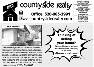 Thing of Selling Your Home?
