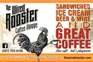 Sandwiches, Ice Cream, Beer & Wine and Great Coffee
