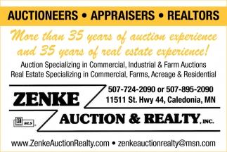 More than 35 Years of Auction Experience and 35 Years of Real estate Experience!