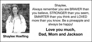 Shaylee Hoefling