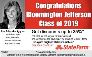Congratulations Bloomington Jefferson Class of 2019