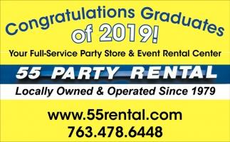 Congratulations Graduates of 2019!