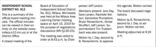 Independent School District No. 912