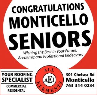 Congratulations Monticello Seniors