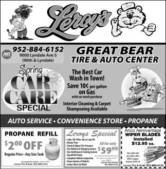 Spring Car Care Special