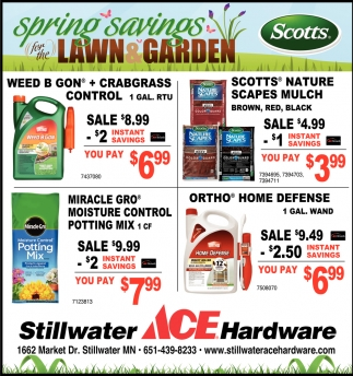Spring Savings for the Lawn Garden