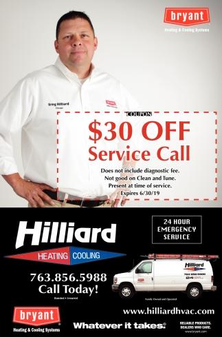 $30 OFF Service Call