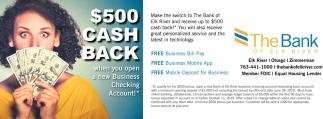 $500 Cash Back