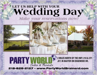 Let Us Help Your Wedding Day