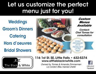 Let Us Customize the Perfect Menu Just for You!
