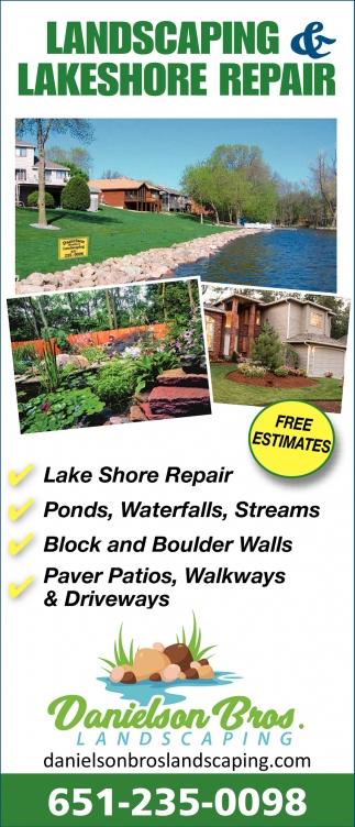 Landscaping & Lakeshore Repair