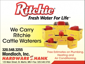 We Carry Ritchie Cattle Wateres