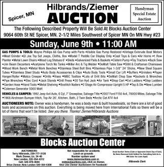Hilbrands/Ziemer Auction
