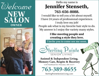 Welcome New Salon Owner