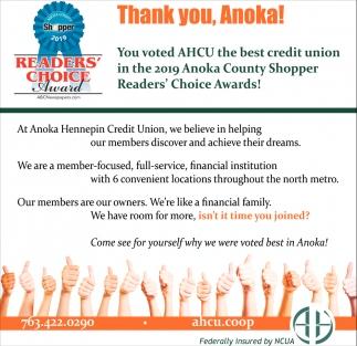 Thank You, Anoka!