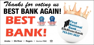 Thanks for Voting Us Best Bank Again!