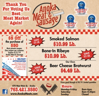Thank You for Voting Us Best Meat Market Again!