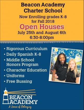 Now Enrolling Grades K-8 for Fall 2018