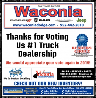 Thanks for Voting Us #1 Truck Dealership