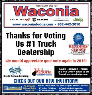 Thanks for Voting Us #1 Truck Dealership
