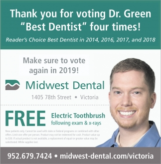 Thank You for Voting Dr. Green