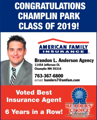 Voted Best Insurance Agent 6 Years in a Row!