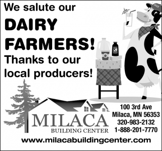 We Salute Our Dairy Farmers!