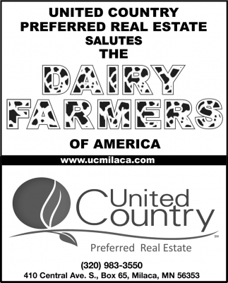 United Country Preferred Real Estate Salutes the Dairy Farmers of America