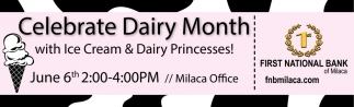 Celebrate Dairy Month with Ice Cream & Dairy Princesses!