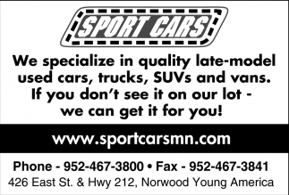 We Specialize in Quality Late-Model Used Cars, Trucks, SUVs and Vans