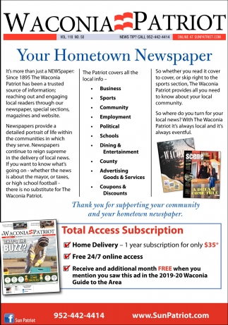 Your Hometown Newspaper