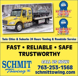 Twin Cities & Suburbs 24 Hours Towing & Roadside Service