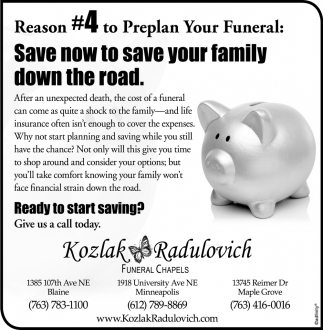 Reason #4 to Preplan Your Funeral