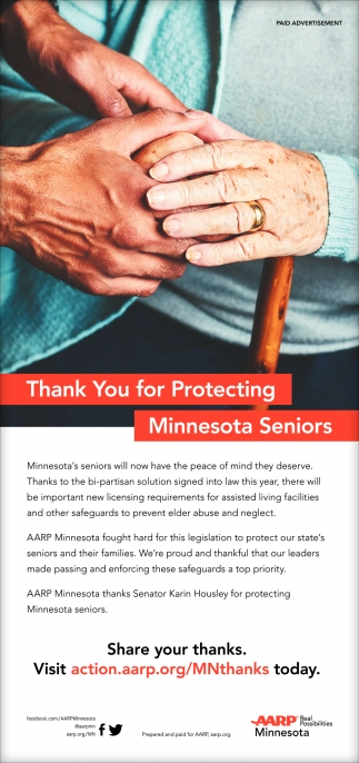 Thank You for Protecting Minnesota Seniors