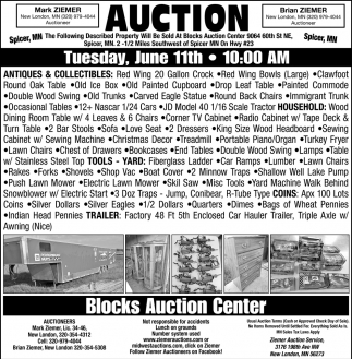 Auction Tuesday, June 11th