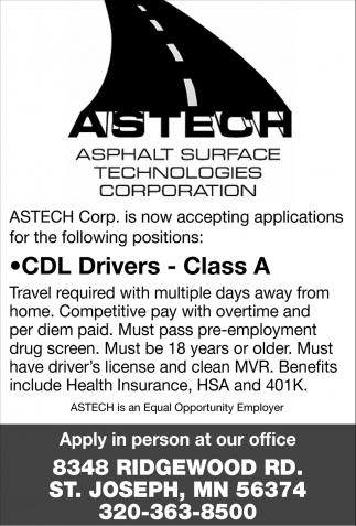 CDL Drivers - Class A