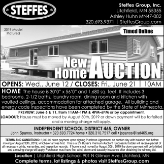 New Home Auction