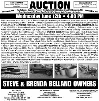 Auction Wednesday June 12th