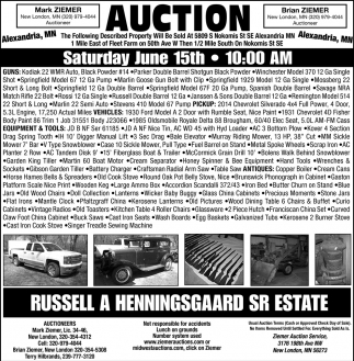 Auction Saturday June 15th