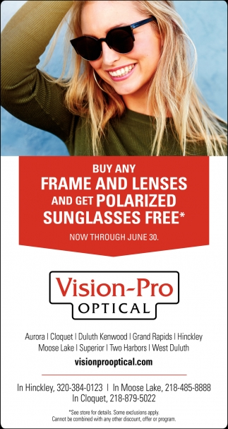 Buy Any Frame and Lenses and Get Polarized Sunglasses FREE