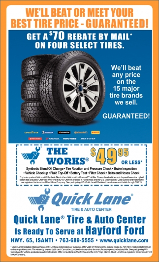 We'll Beat or Meet Your Best Tire Price - Guaranteed!