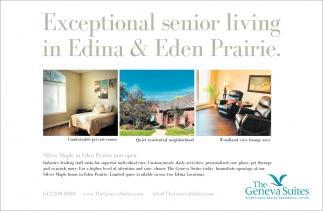 Exceptional Senior Living in Edina & Eden Prairie