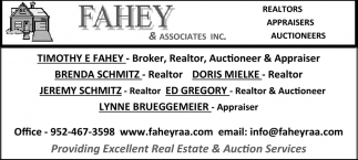 Realtors, Appraisers & Auction