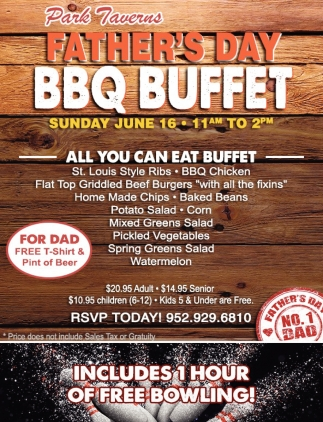 Father's Day BBQ Buffet