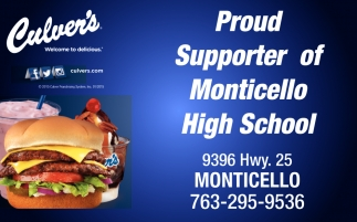 Proud Supporter of Monticello High School