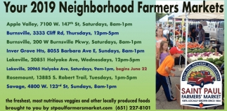 Your 2019 Neighborhood Farmers Market