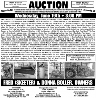 Auction Saturday June 22, 2019