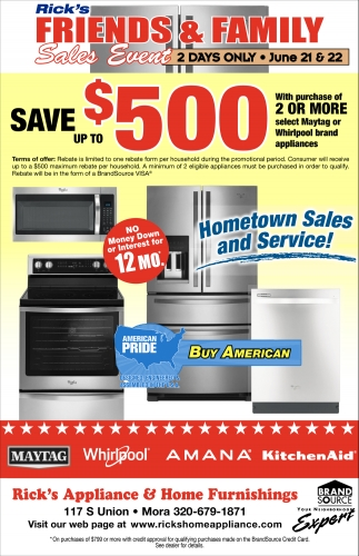 Rick's Friends & Family Sales Event