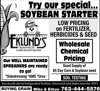 Try Our Special... Soybean Starter