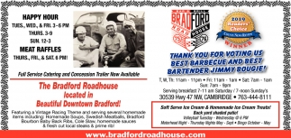 Thank You for Voting Us Best Barbecue and Best Bartender Jimmy Bougie!